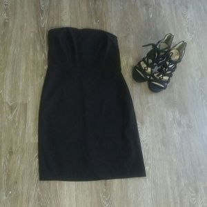 5/$50 Bongo Black Strapless Dress M